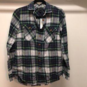 J.Crew Flannel Shirt, Tall 6